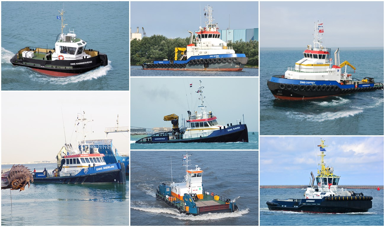 DMS has a big fleet with different vessels for charter