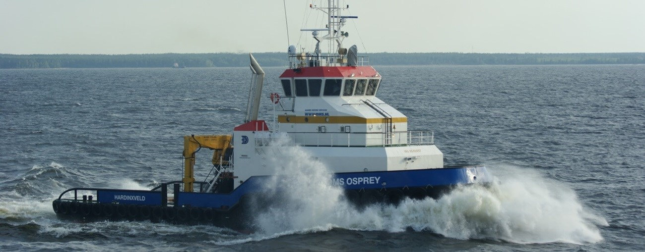 Damen Marine Services offers vessels for charter and
