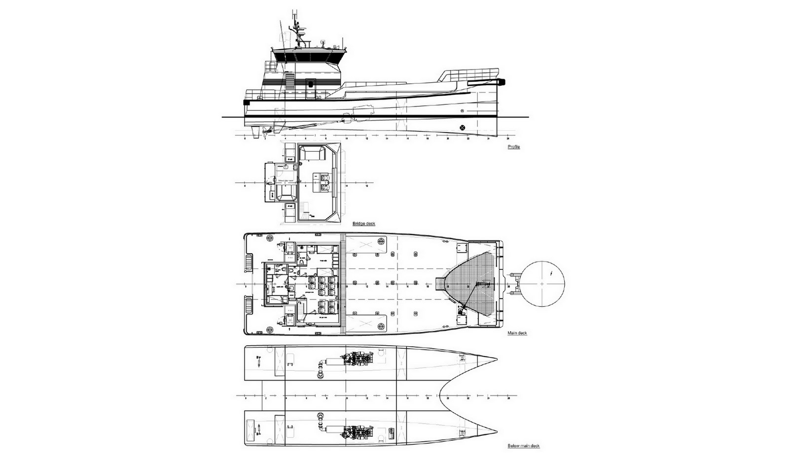 Genneral Arrangement of Damen Fast Crew Supplier 2610