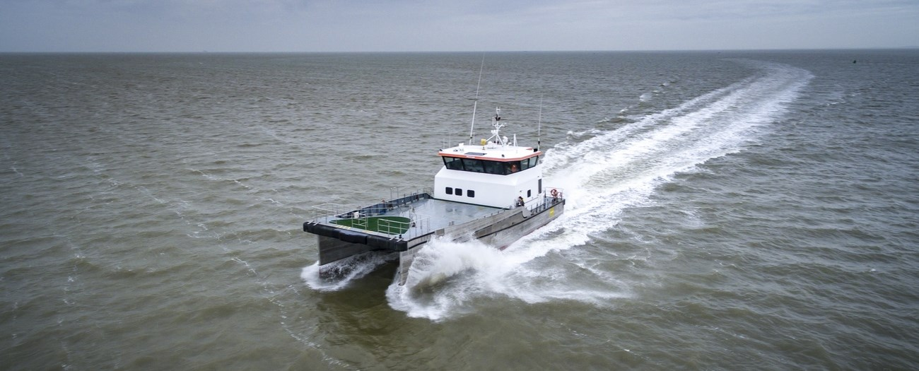 Fast Crew Supply vessel for quick, comfortable and safe offshore transportations with large working deck area is available for charter