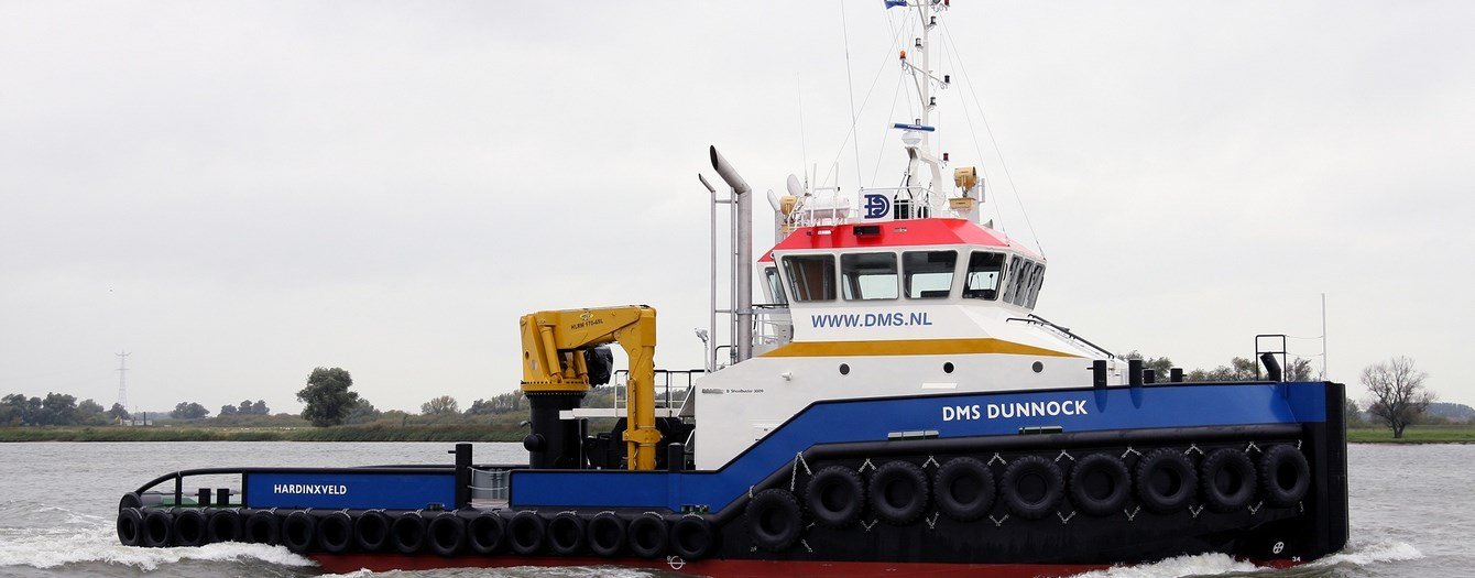 Shoalbuster 3009 will towage of dummy barges, moving anchors from working barges and transport of concrete mixer skid