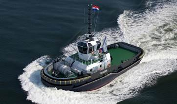 azimuth stern drive tug 2811 'pioneer' for charter (preview)